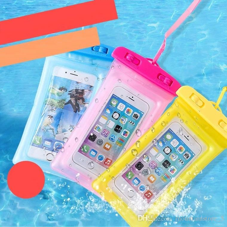Air bag Waterproof Mobile Phone Case For iPhone X 7 6 Samsung Clear PVC Sealed Underwater Cell Smart Phone Dry Pouch Cover (Retail)