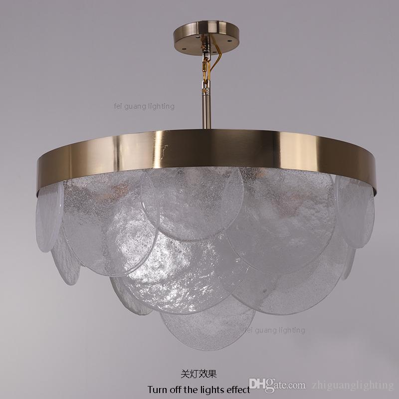 Postmodern Glass Restaurant Chandelier Fashion Bedroom Lamp Personality  Light Luxury LED Lamps Glass Crystals For Chandeliers Multi Light Pendants  ...
