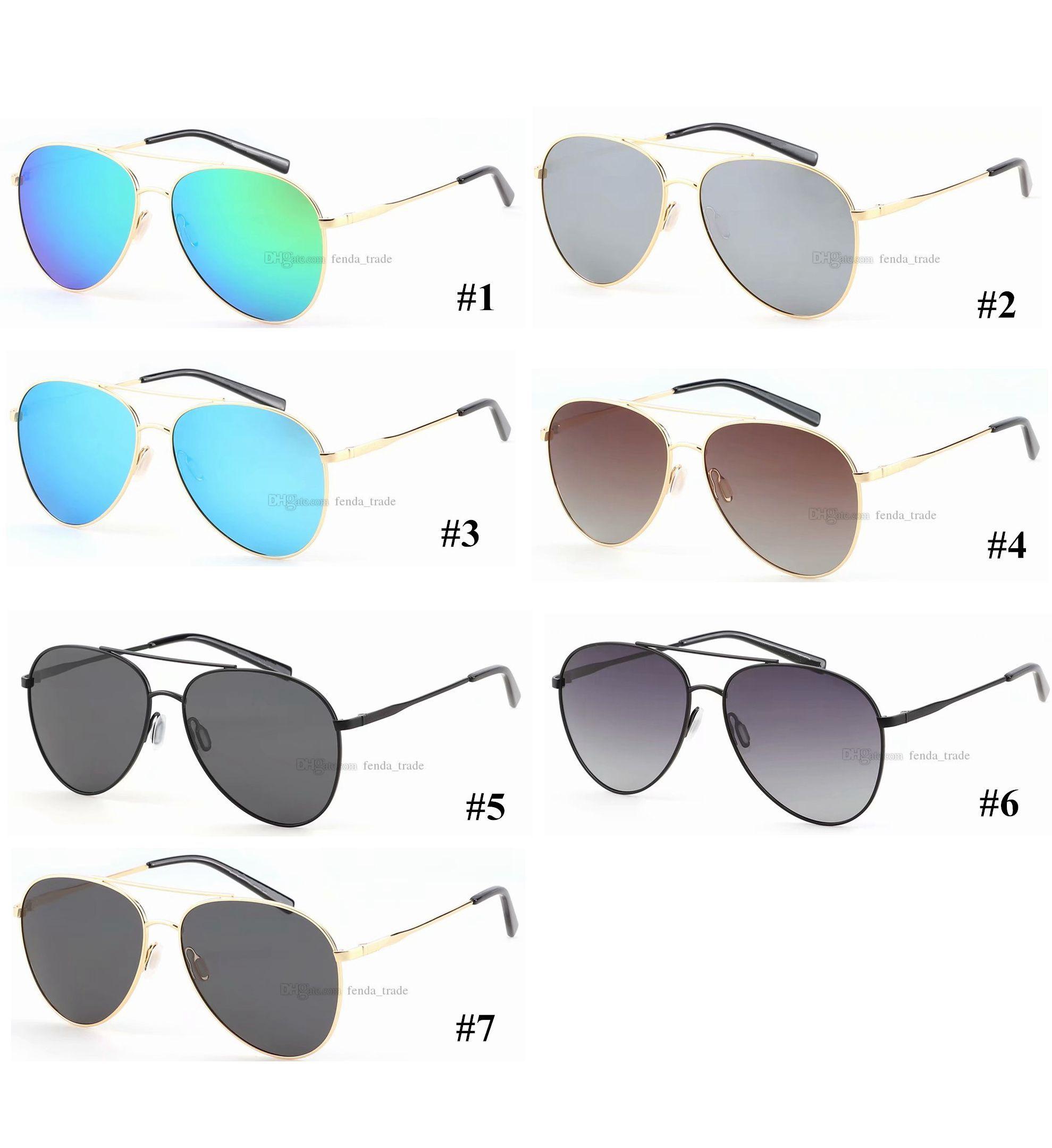 Diseñador polarizada espejo Gafas de sol redondas gran tamaño retro Gafas de sol Señora macho polarizado surf venta caliente conducción gafas de sol deportivas 5PCS