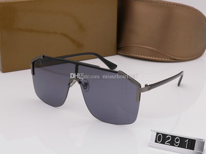 حار جديد 0291 عالية الجودة الرجال النساء نظارات مع صناديق الأصلي الاستقطاب النظارات الشمسية العلامة التجارية مصمم أزياء الرجال نظارات uv حماية