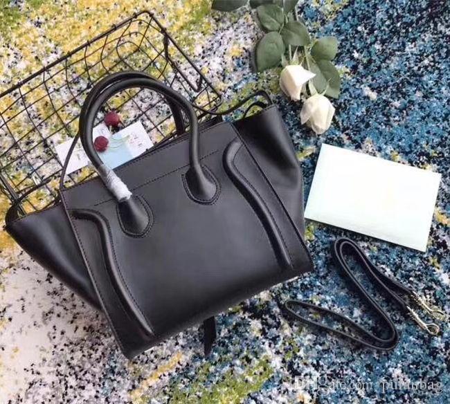 Klassische Luxus Damen Trapeze Casual Tote Handtasche Echt Rindsleder Designer Schulter Bat Tasche Mit Handgelenk Geldbörse Tasche Boston Handtasche