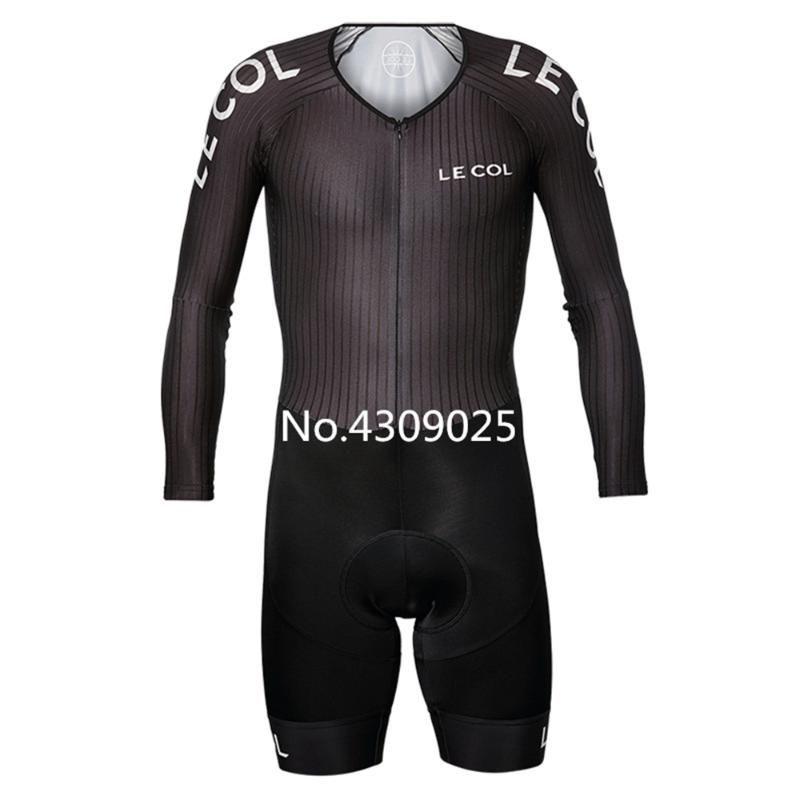 LE COL Cycling Jumpsuit Men's PRO TEAM Training Skinsuit long sleeve speedsuit road bike club team clothing ciclismo bodysuit