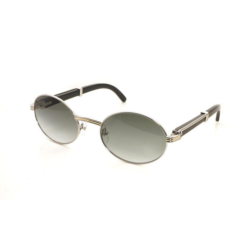 Vintage Horn Sunglasses Men Accessories Round Wooden Gafas Los Hombres Sun Glasses Oculos Shades Eyeglasses