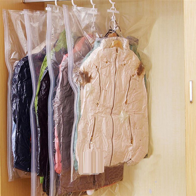 Colgar la ropa bolsa de compresión bolsa de almacenamiento del gabinete almacenaje de la ropa transparente sellada