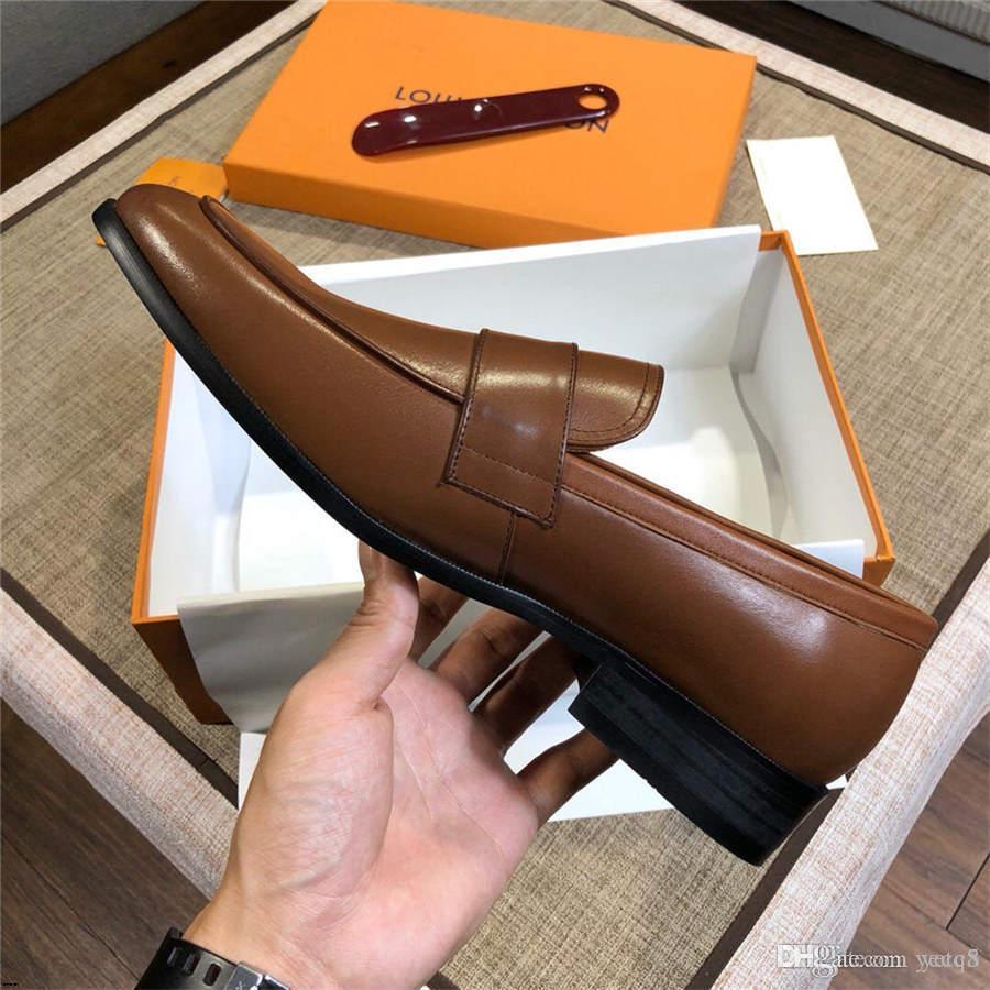 19MM Marken MAN'S Mokassin beiläufige Schuh-Geschäft Arbeiten Sie echtes Leder-Troddel-Partei-Kleid-formales SHOE New Luxury MAN Loafers YECQ5