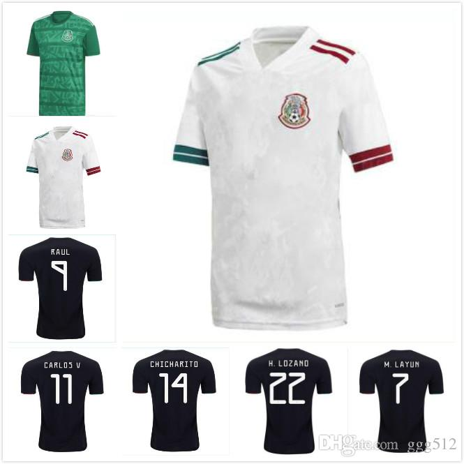 Gold Cup 2019 Mexico soccer jersey 19 20 Camisetas CHICHARITO LOZANO MARQUEZ DOS SANTOS HERRERA GUARDADO national team football shirt