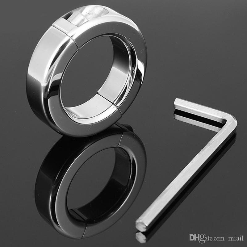 Libero sfera di trasporto-150g Stretching scroto Restraint acciaio inossidabile pene maschile anelli del rubinetto di chiusura a sfera barella per adulti ritardo del sesso BDSM