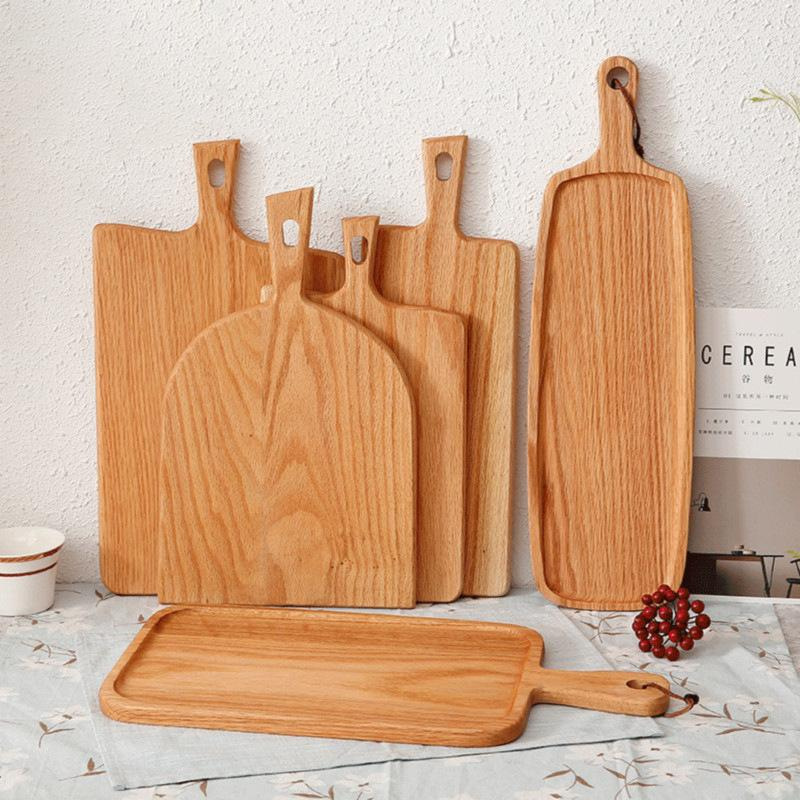 Squre Kitchen Chopping Block Wood Home Cutting Board Cake Sushi Plate Serving Trays Bread Dish Fruit Plate Sushi Tray Steak Tray DBC VT1611