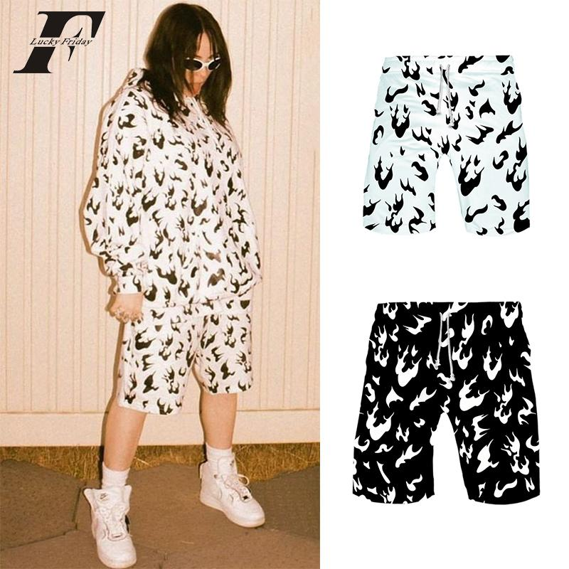 2020 Billie Eilish Shorts Women And Men Summer Sports Hawaiian Magic Plus Size Shorts White Fire Black Hip Hop Womens Shorts Mx200407 From Tubi02 9 84 Dhgate Com