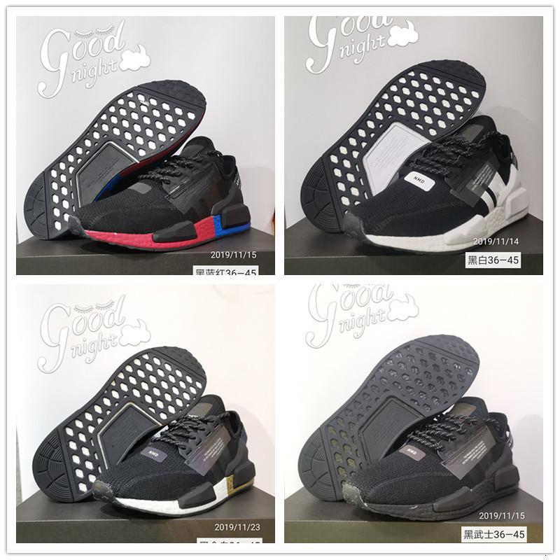 2020 NMD R1 XR1 V2 Triple Noir Bleu Rouge Courir pour les hommes Pharrell Williams Sneakers Designer Femmes Sport Chaussures Taille Mode 36-45