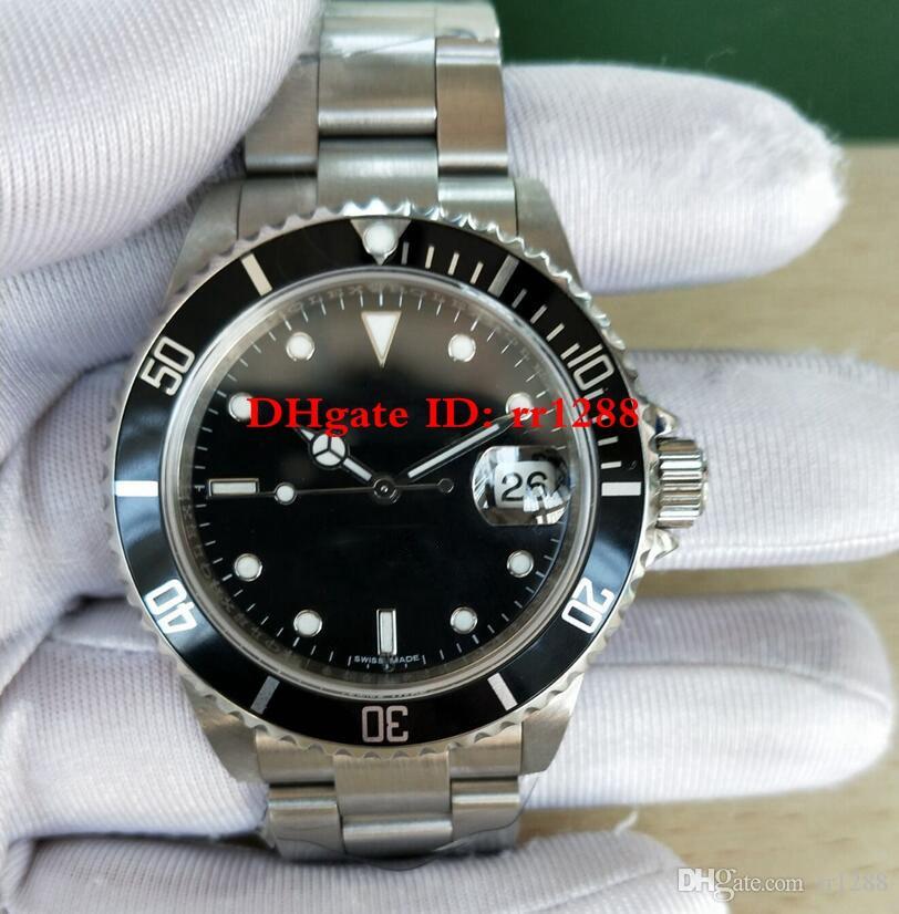 Vintage Saatler BP Retro İzle 40mm 16610 116610LN Vintage Otomatik 2813 50th Yıldönümü Dalış Saatı Erkek Saatler Antika İzle