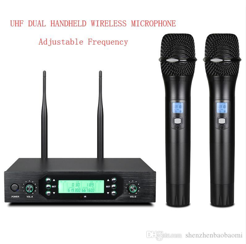 J5 Profesyonel Telsiz Mikrofon Sistemi IR UHF Dinamik Şarjlı Karaoke Microfon Sahne Performansı Mikrofon ile Verici Ve Alınan