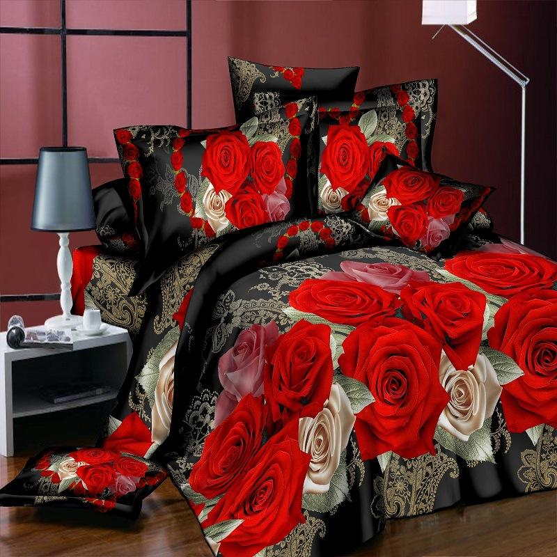 Fashion 3D Bedding Sets Queen King Bed Sheet Pillow Cases Duvet Cover free shipping