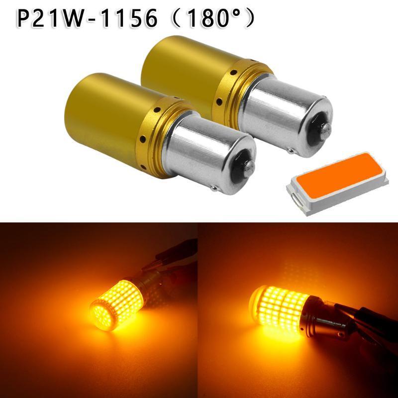 2adet 3014 Cips 144SMD 12V 24V CANbus Araba LED Işık Hata Ücretsiz T20 / 1156 Dayanıklı Ve Pratik Kullanım