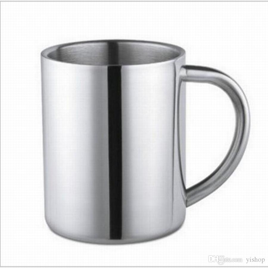400ml Creative Coffee Mug Cup Stainless Steel Camping Travel Beer