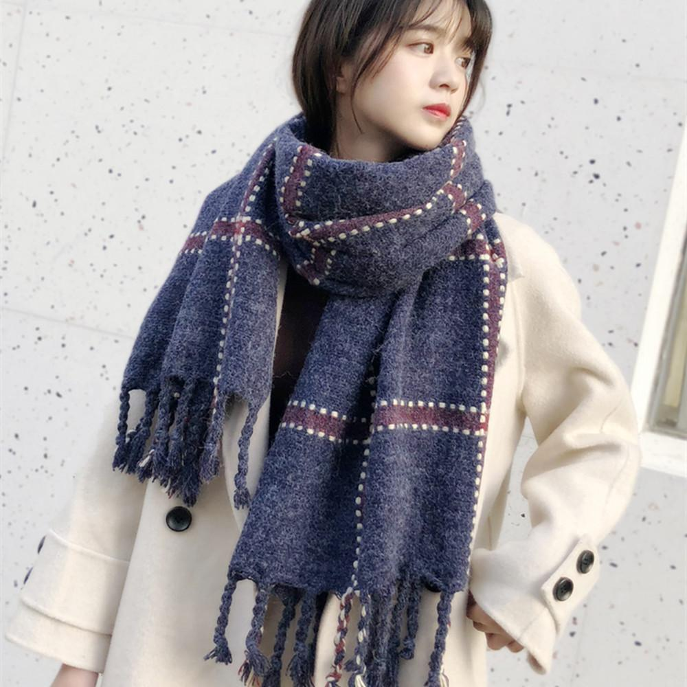 Designer Schal Student Mädchen Plaid Quasten süßen Temperament Erhöhung Kaschmirschal Rechteck 190 * 60CM