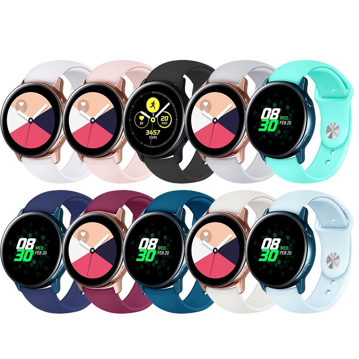 20mm Sport Bilezik Kayış Bant İçin Samsung Galaxy Saat Kayışı İçin Huawei Huami İzle Yedek İzle Band Aksesuarları 91019