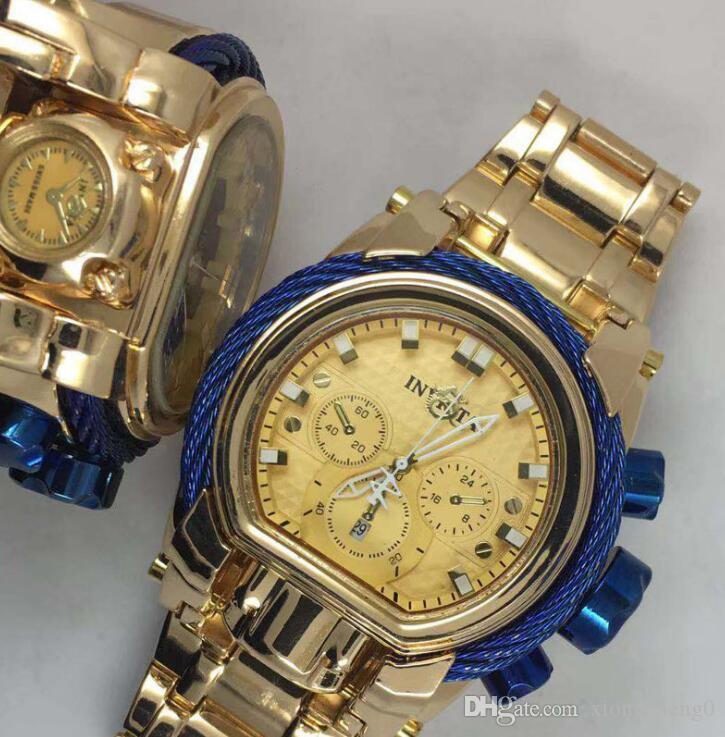 2020 высокое качество invicta лучшие продажи из-за Vichta клоун серии мужчины топ бренд класса люкс часы TRITNITE световой хронограф наручные часы