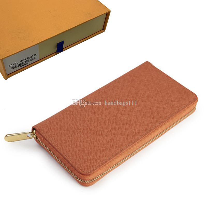 Carteira Carteiras Womens Coin Purse Zippy Carteira Lady Longo carteiras Fold Cartão portador de passaporte titular Mulheres bolsas chave Pouch 64 321 dobrado