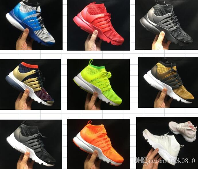 2019 Presto High Uppers Acronym Air MID White Black blue yellow Hot Lava running shoes for men sports shoes size 36-45