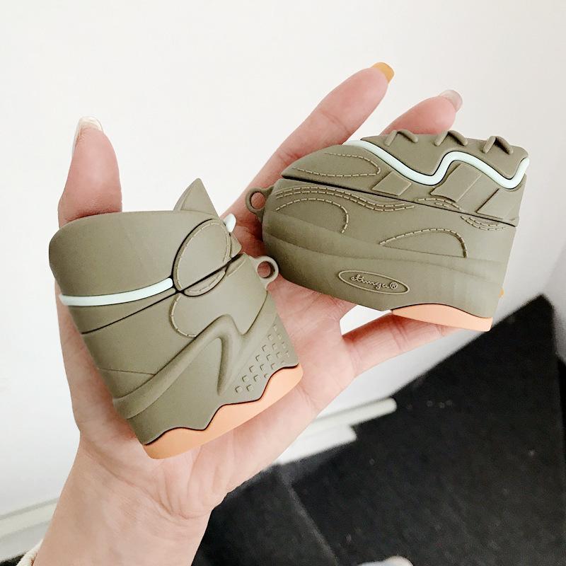 الفاخرة لطيف سماعة القضية ل أبل الهواء القرون برو سماعة لاسلكية حالة ل أبل للطيران 1 2 3D تصميم الأحذية الأزياء
