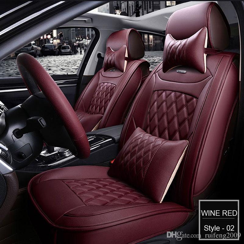 غطاء مقعد السيارة لأودي A3 A4 B6 A6 A5 Q7 بي ام دبليو تويوتا مقاعد السيارات الداخلية حامي وسادة مجموعة السيارات يغطي العالمي