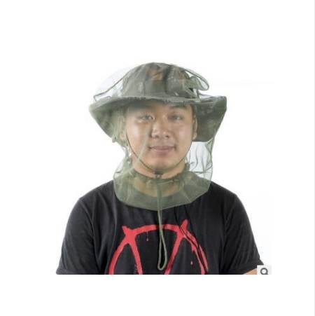 Outdoor jungle adventure operations anti - mosquito head mosquito net mosquito gauze mask insect protection net