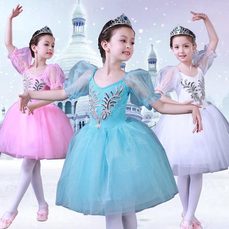Girls Ballet Dress Tutu Children Girls Dance Clothing Kids Ballet Dress Costumes Dancer Leotards Dance wear