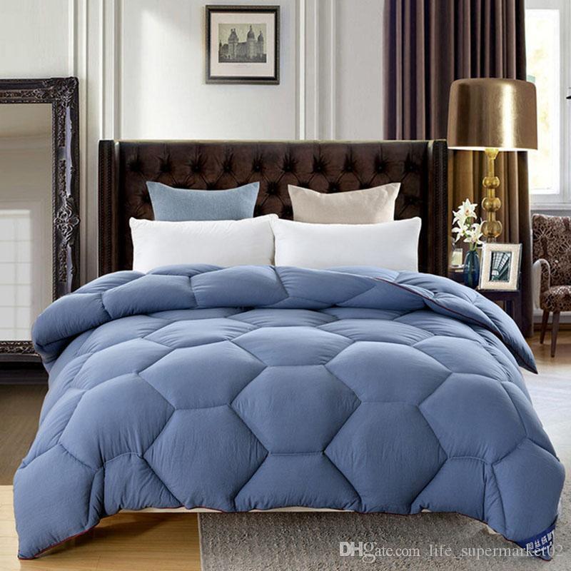 3 ~ 4kg 가을 겨울 홈 호텔 웨딩 솔리드 샌딩 혼합 이불 성인 자녀 침실 침구 이불 블루 핑크 이불