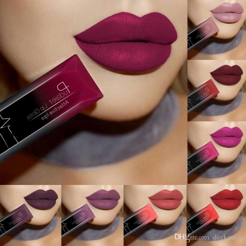 Pudaier Waterproof Liquid Lip Gloss Metallic Matte Lipstick For Lips makeup Long Lasting Matte Nude Glossy Lipgloss Cosmetic Sexy Batom