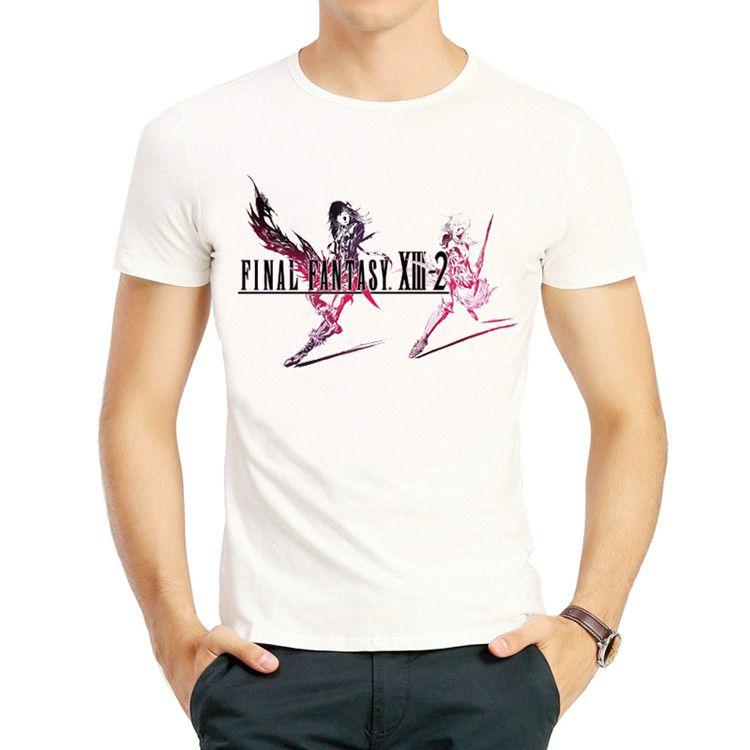 Lightning t shirt Final Fantasy XIII 2 short sleeve tops Puzzle crystallis game print tees Unisex clothing Fadeless modal tshirt
