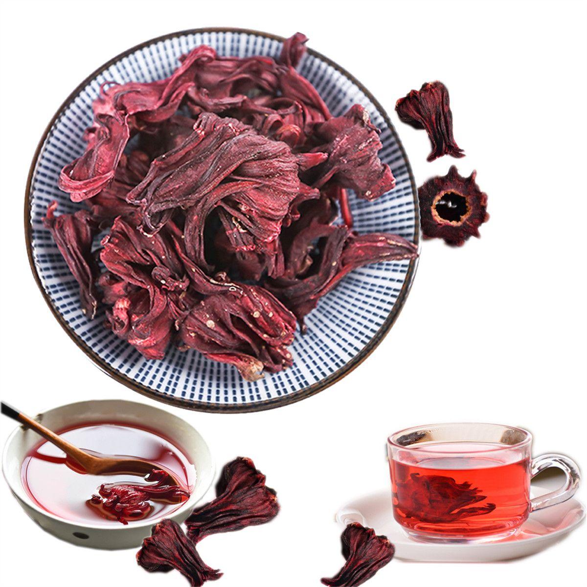 Горячая Розель Чайная Роза Луошэнь Цветочный Чай Китай Юньнань Сушеные Цветочные Чайные Листья Кислый Сливовый Суп Роза