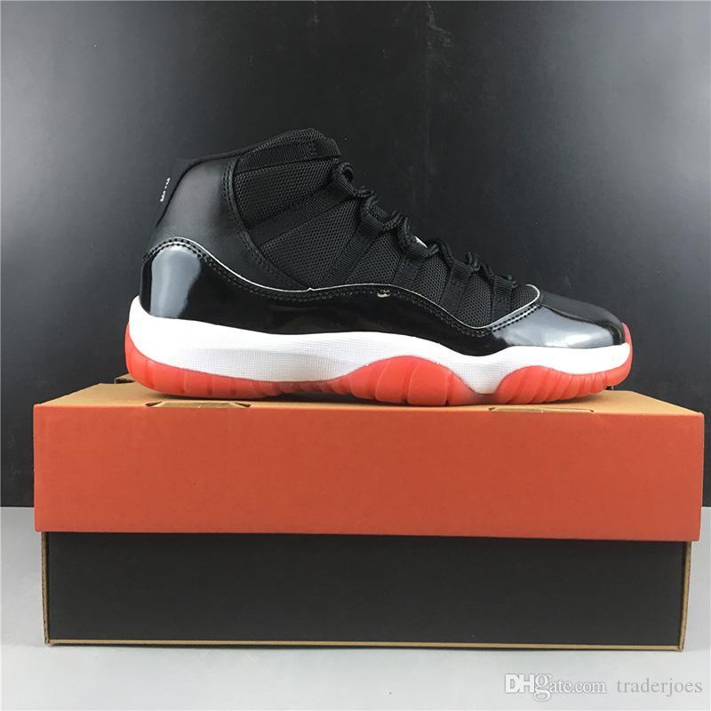 с коробкой 2019 женщин ботинки баскетбола 11s Бред высокий реальный углеродного волокна для женщин спорта кроссовки US13