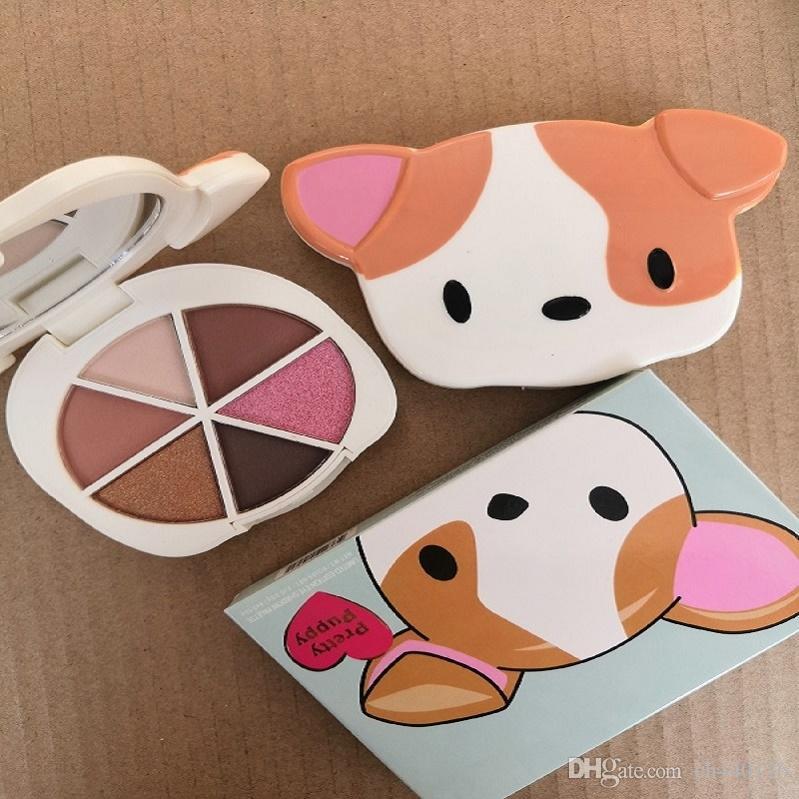 Em estoque! Alta qualidade paleta de maquiagem sombra de olho, filhote de cachorro bonito de 6 cores da paleta da sombra de olho, 6 paleta de cores.
