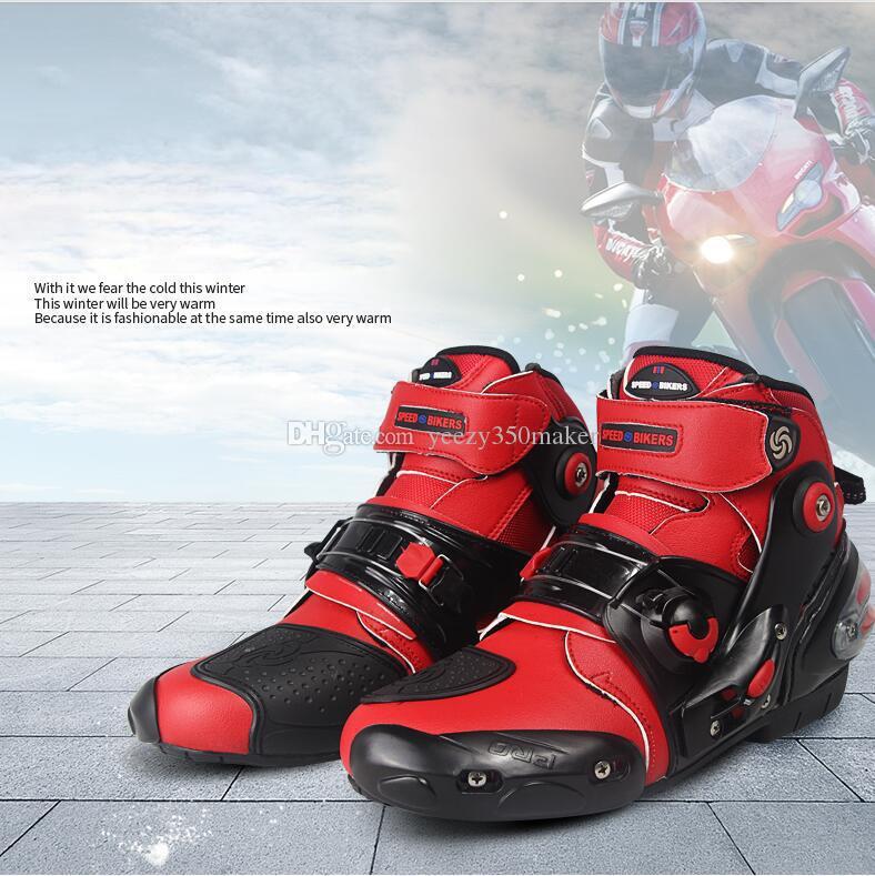 motocicleta verão sapatos masculinos de equitação curta acidente estilo prova respirável quatro temporadas de corrida botas de motociclista botas sapatos de cross-country