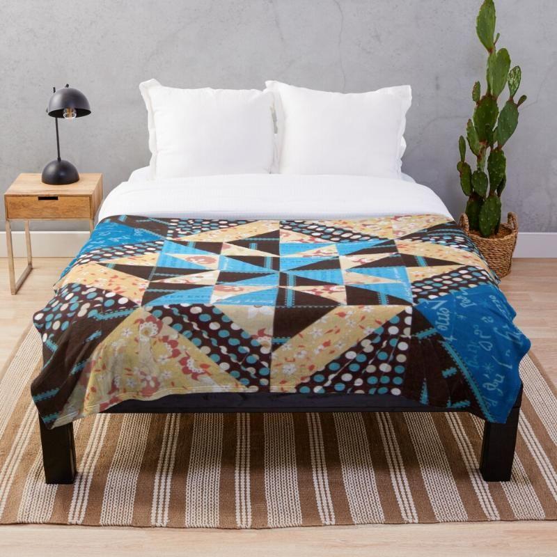 Всесезонное печатное фланелевое одеяло Супер мягкий уютный бросок одеяло Sunburst в цвете