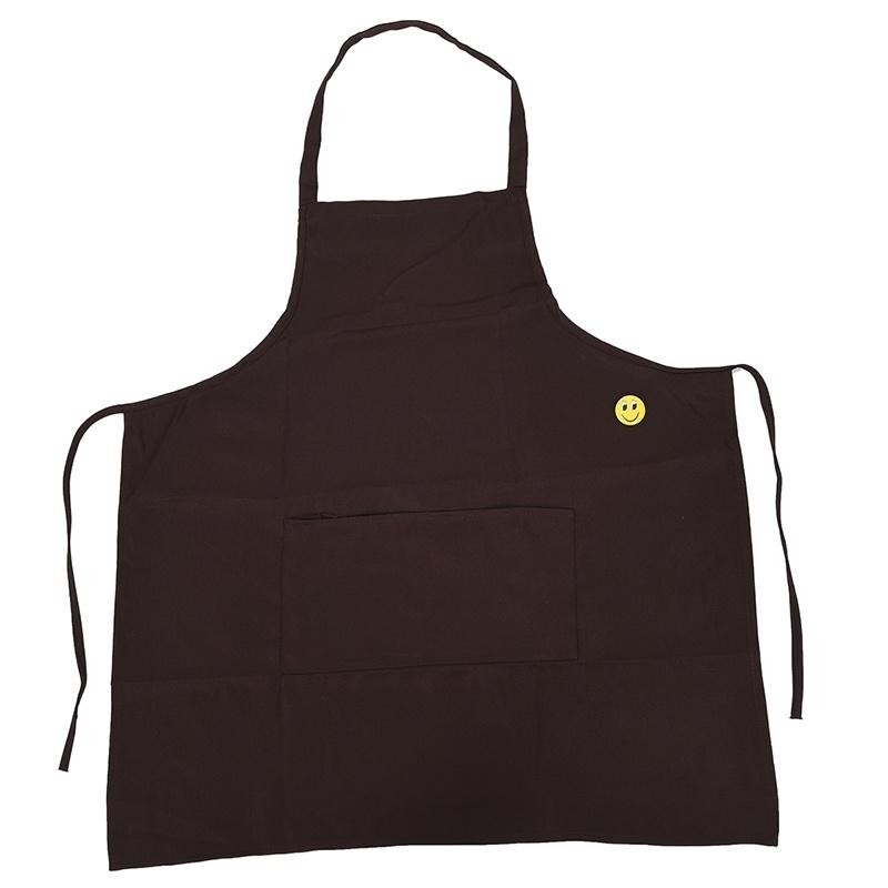 Plain Apron With Front Pocket Kitchen Cooking Craft Baking Coffee Other Housekeeping Organization