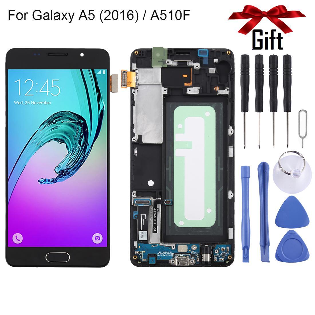 TFT material de la pantalla LCD y digitalizador Asamblea completa con el capítulo para Galaxy A5 (2016) / A510F