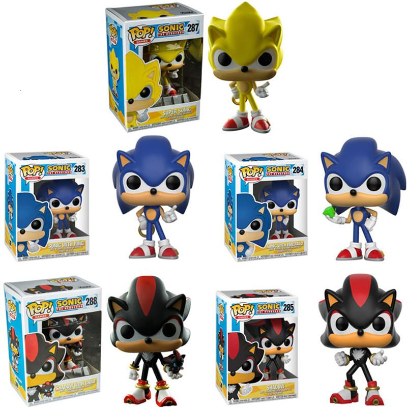 2020 Funko Pop Super Sonic Vinyl Dolls 283 Sonic With Ring Emerald Shadow Collectible Model Action Figure Toys For Birthday Gift Sh190908 From Hai06 15 57 Dhgate Com