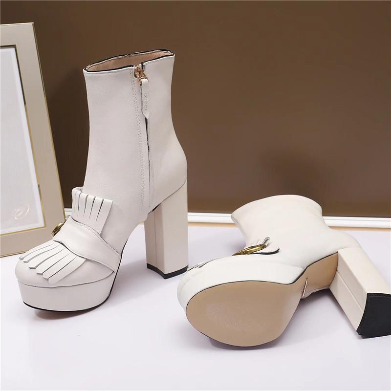 2020 de la marca de lujo de diseño de moda zapatos de las mujeres del diseñador de moda de lujo de las mujeres botas para mujer de tacón chunkyh vestido de las mujeres zapatos de los cargadores del tobillo