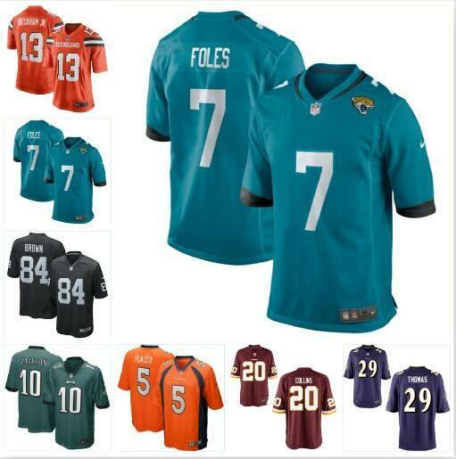 lowest price 81913 902a2 2019 Odell Beckham Jr Jersey Browns Cleveland Antonio Brown Nick Foles  DeSean Jackson Joe Flacco Landon Collins American Football Jerseys Mens 4x  From ...