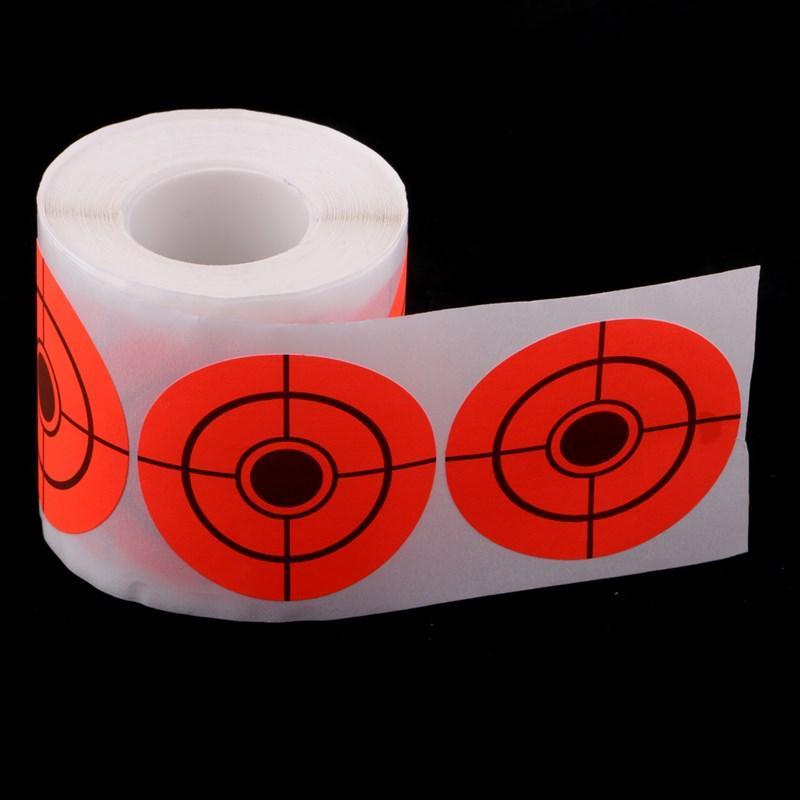"""250 Blatt Papier Bullseye 5cm / 2 """"Zielaufkleberrolle selbstklebende shooting Papierrolle Ziel orange fluoreszierend"""