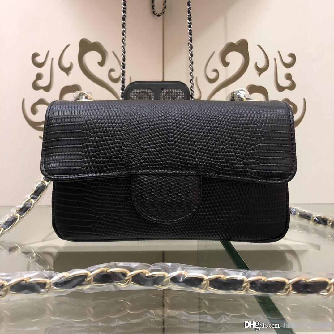 moda lüks tasarımcı kadın çanta çanta zincir crossbody çanta Kertenkele desen hakiki deri kaliteli klasik çanta flep bozuk para cüzdanı torbaları