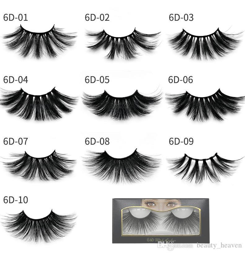 Pestañas de visón 3D Maquillaje de ojos Pestañas falsas Cruz suave Gruesas pestañas falsas Herramientas de belleza Pestañas de pestañas Extensión 10 estilos