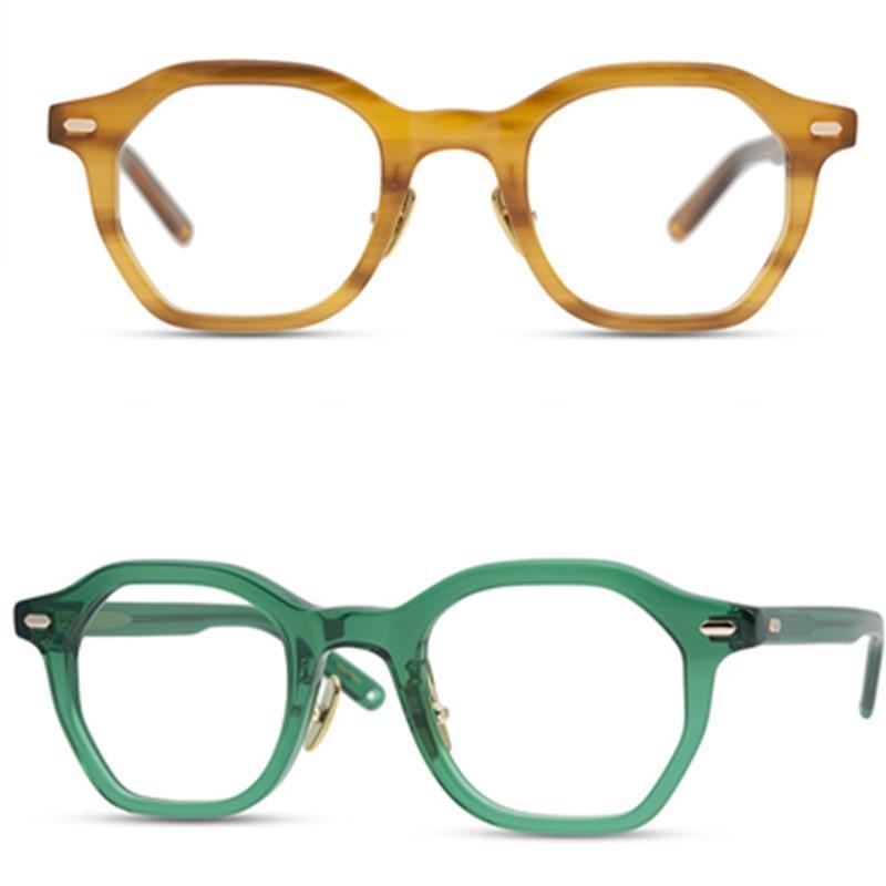 Homens Ópticas Ópticas Quadros Marca Eyeglass Mulheres Espetáculos Pure Titanium Nose Pad Irregular Polígono Óculos Miopia Óculos Óculos