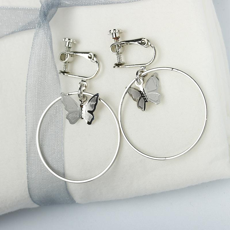 Ohr-Stulpe-Klipp-Ohr Ohne Piercing für Frauen Schmetterling Ohrringe Schmuck 2020 Ohrring Cuffs keines Ohr