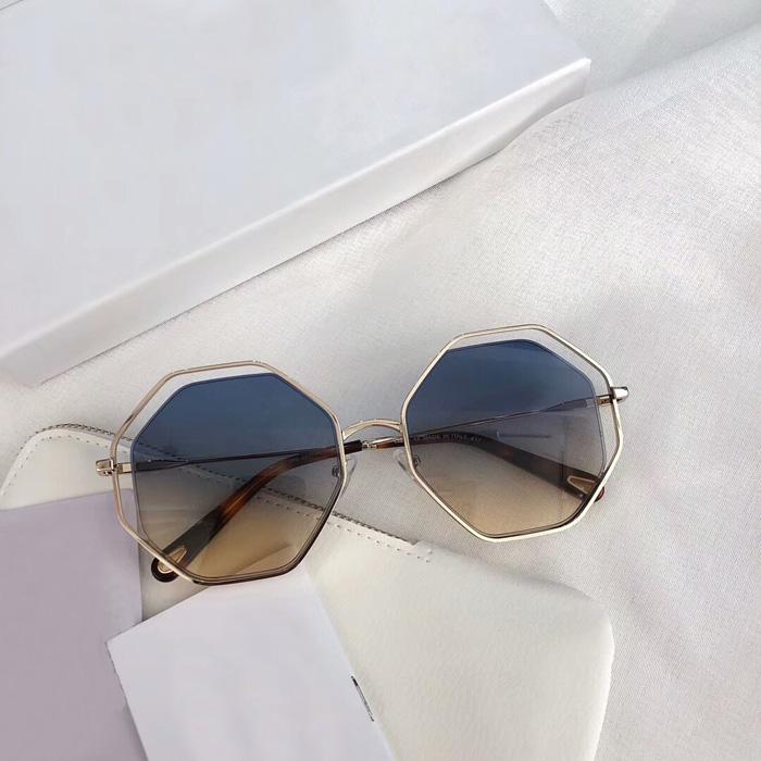 Luxo Lady Sunglasses Praça Lens Light Weight Metal Frame TOP Qaulity Brand Design de Mulheres Sunglass Óculos Outdoor Óculos Feminino HO