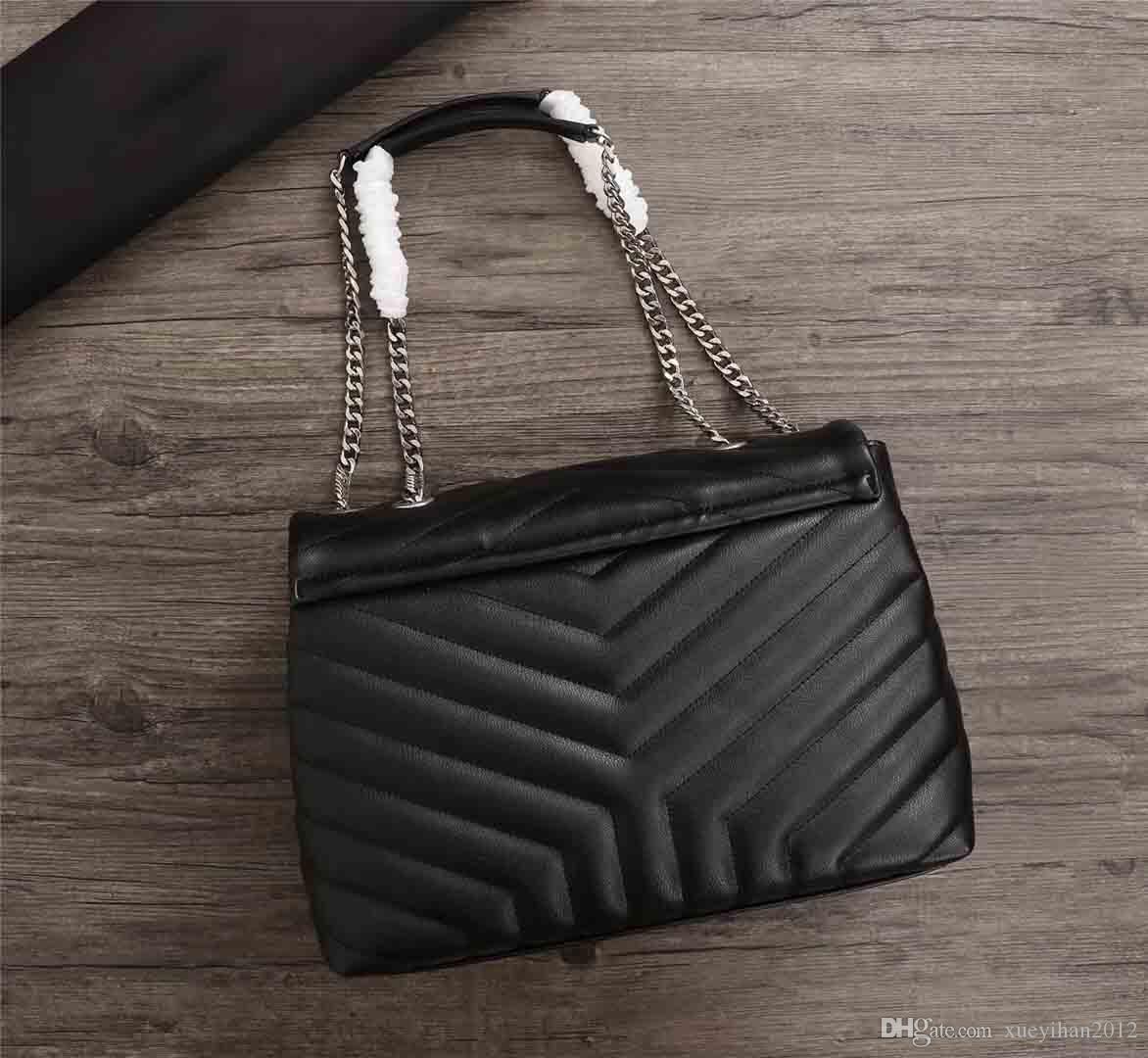 2019 Hot venda Mulheres Designer cadeia de bolsa, loja de sincronização Top Leather Slant Saco, Star Fashion Único Shoulder Bag, 30 centímetros
