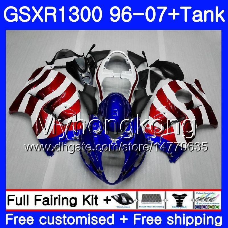 Körper für SUZUKI Hayabusa GSXR 1300 GSXR1300 96 97 98 99 00 01 07 Nizza USA FLAG 333HM.4 GSX R1300 1996 1997 1998 1999 2000 2001 2007 Verkleidungs