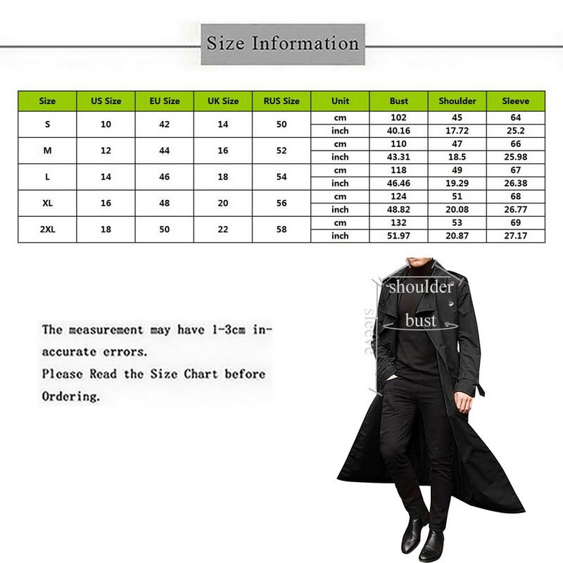 Мужчины Британский Длинный траншеи Весна Пальто Осень Мужские Повседневные Мужчины Пальто Новый Свободный Мужской Стиль Trench Передвижной Уличная Одежда VPDON